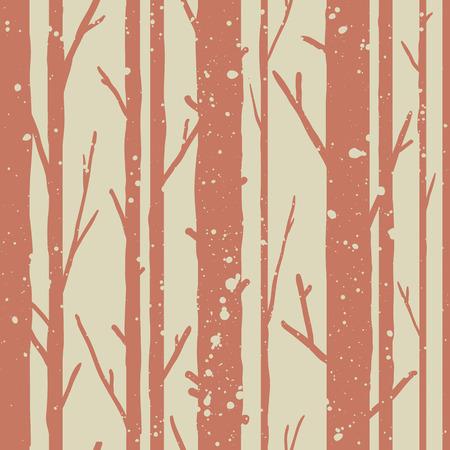 나무와 숲 원활한 패턴입니다. 계절 배경.