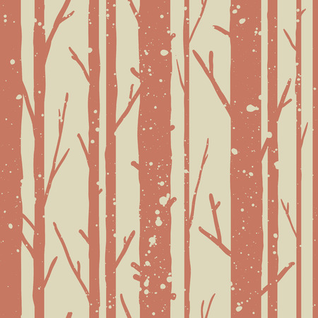 Forest seamless pattern with trees. Seasonal background. Stock Illustratie