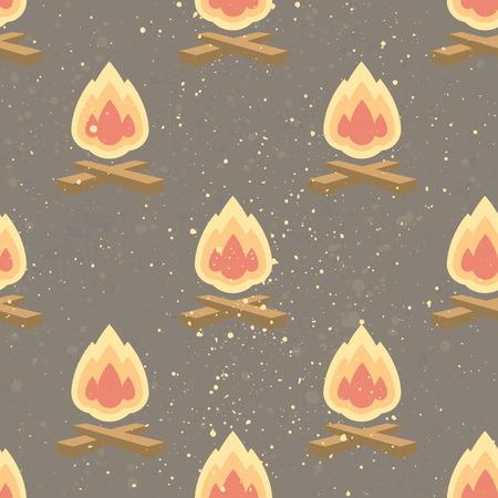 모닥불와 원활한 패턴입니다. 디자인을위한 크리 에이 티브 배경