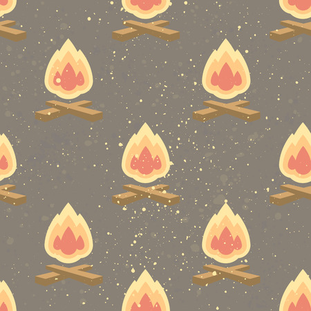 Seamless pattern with bonfire. Creative background  for your design