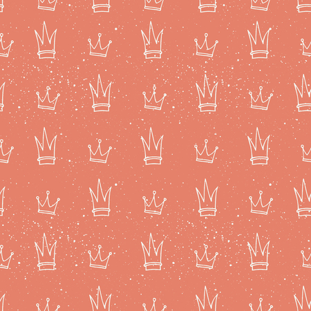 queens jubilee: Simple seamless vector pattern with crown symbol. Wrapping paper. Decoration. Illustration