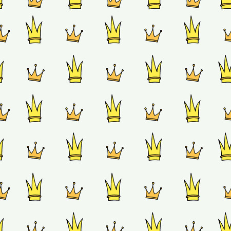 Simple seamless vector pattern with crown symbol. Wrapping paper. Decoration. Vectores