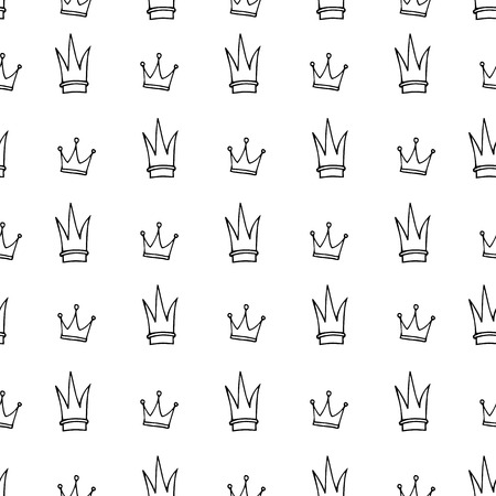 queens jubilee: Simple seamless pattern with crown symbol. Illustration