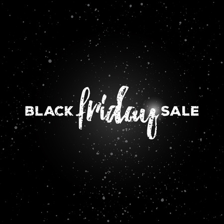 black textured background: Black friday sale concept. background. Black friday lettering. Textured grunge tag, calligraphic badge for  labels, prints, posters, web, presentations.
