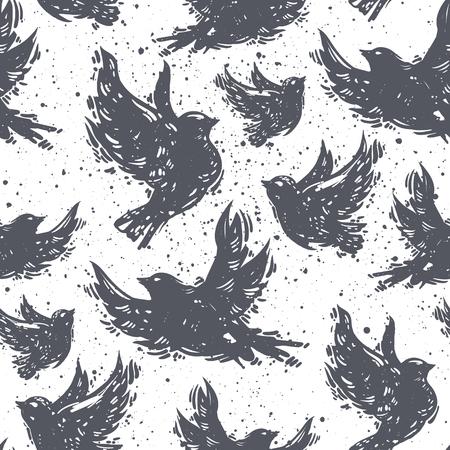 국제 평화 하루 원활한 패턴 비행 비둘기, 조류 질감 배경. 그런 지 배경, 벡터 일러스트 레이 션, 포장지 벡터. 일러스트