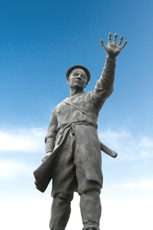 a righteous person: A statue of Hong gil-dong. Editorial
