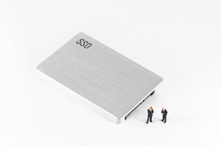 solid figure: Solido SSD disco a stato. Disco rigido. Archivio Fotografico