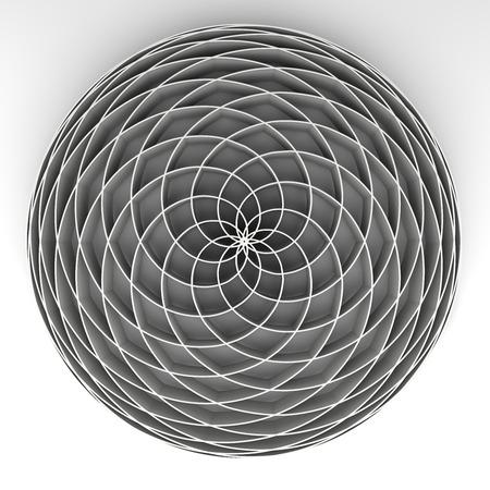 espiral: de Fibonacci de la flor Foto de archivo