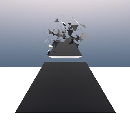 explotion: Exploding pyramid
