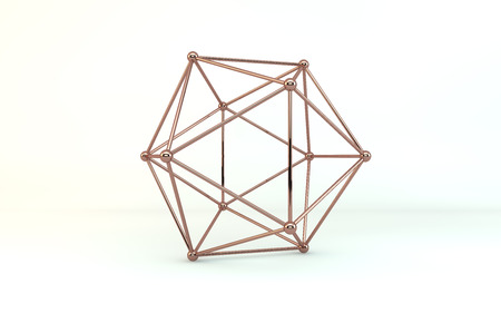 icosahedron: 3d illustration of a icosahedron