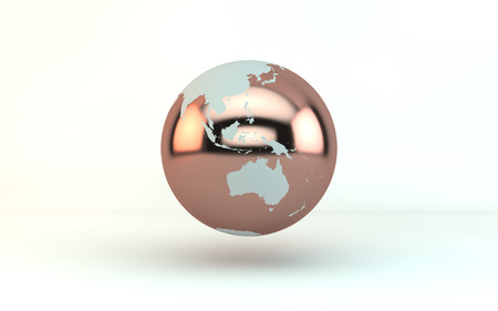 3d  illustration: 3d illustration of a globe Stock Photo