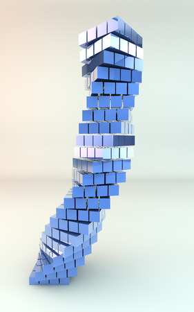 built: Blue Tower Stock Photo