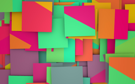 chaos: 3d illustration of a colorful chaos