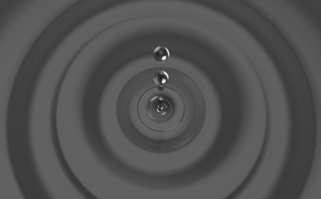 waterdrops: 3d illustration of a water drop Stock Photo