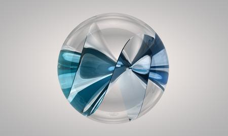 blue sphere: 3d illustration
