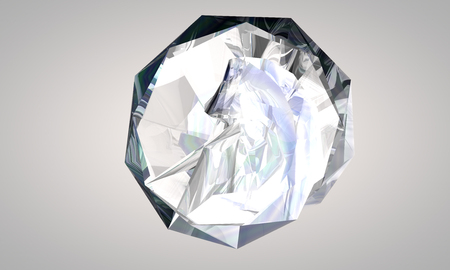 od: 3d illustration od a crystal