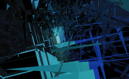 architecture abstract: 3d illustration of an abstract architecture