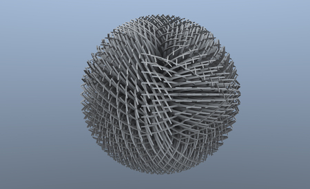 create idea: 3d illustration of a sphere