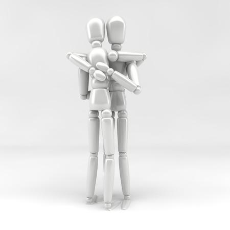 3d  illustration: 3d illustration  hug