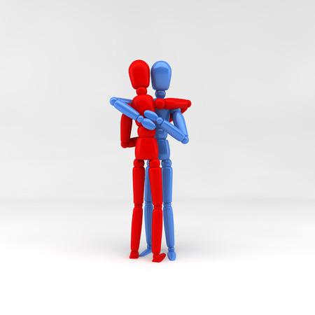 humane: 3d illustration  hug