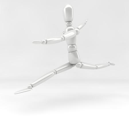 humane: 3d illustration  ballet