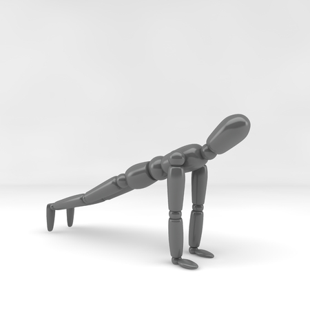3d  illustration: 3d illustration  yoga Stock Photo