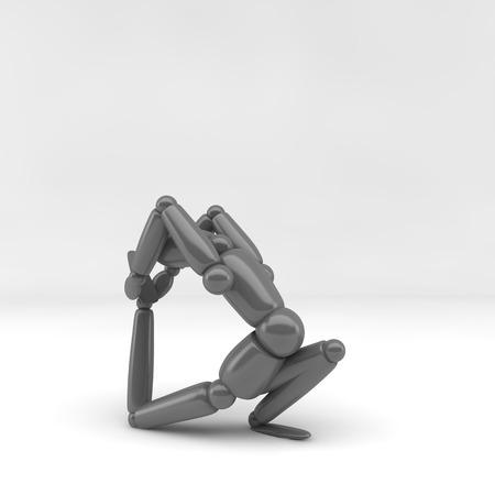 humane: 3d illustration  yoga Stock Photo