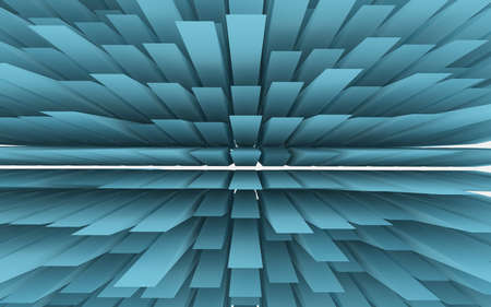 3d illustration abstract style design geometry construction