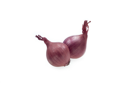 Shallot Onion Red On White Isolated Background Archivio Fotografico - 107456698