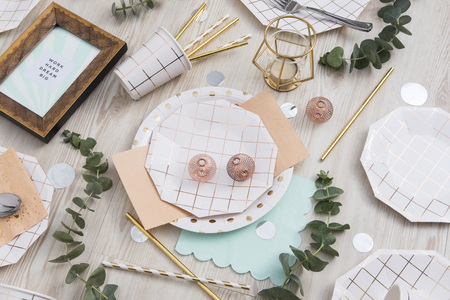 The messy tableware Imagens