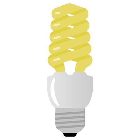 kilowatt: Vector illustration of yellow light bulb on white background