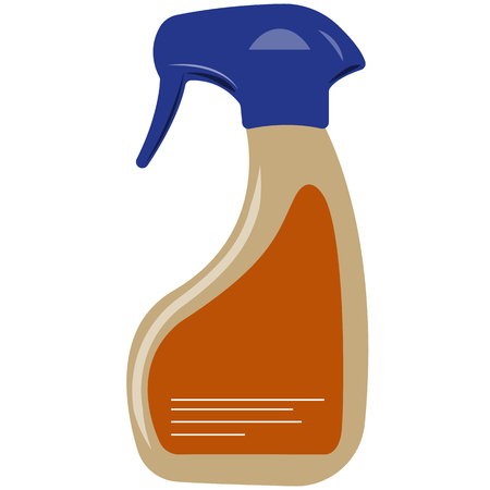 cleanser: Illustration of cleanser, orange color, an white background Stock Photo