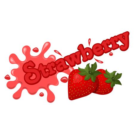 strawberry splash: Vector illustration of  strawberry splash on a white background