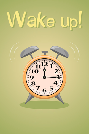 wake up: Wake up vector poster. Vector colorful illustration Illustration