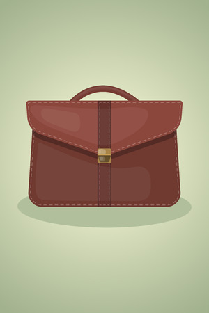 briefcase icon: single colorful briefcase icon an a brown background