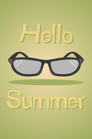 summer holiday: Hello summer colorful illustration. Summer holiday poster
