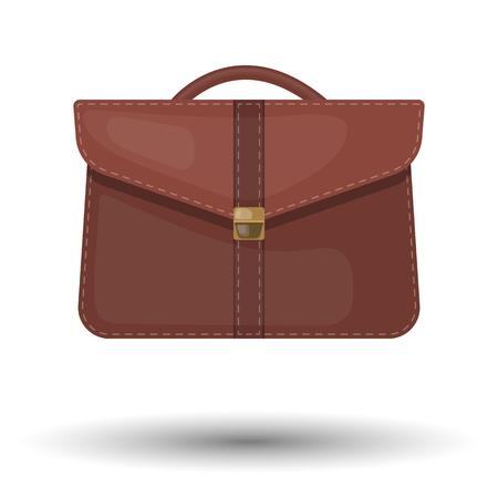 Solo vector colorido maletín icono de un un fondo marrón