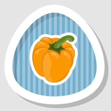 carotene: Vector illustration of bell peppers, white background