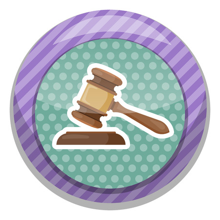 court process: Gavel vector illustration. Gavel judge in a flat style