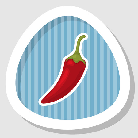 hot pepper: Vector illustration of  single spicy chili pepper Illustration