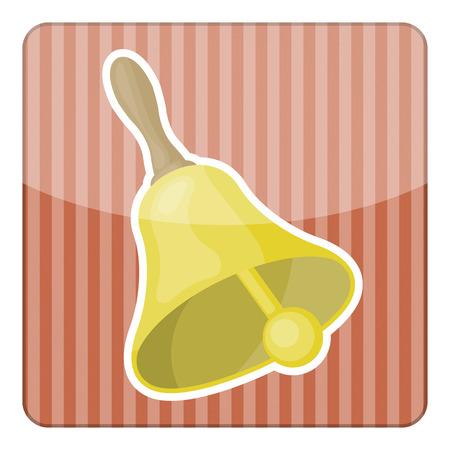 handbell: Vector illustration of a elegant gold color wedding bell