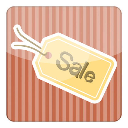 Sale tag simple colorful icon. Vector illustration Illustration