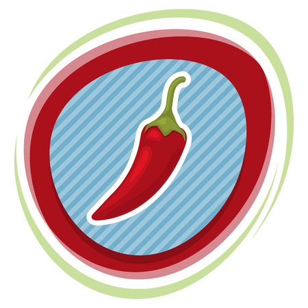 spicy: Vector illustration of  single spicy chili pepper Illustration