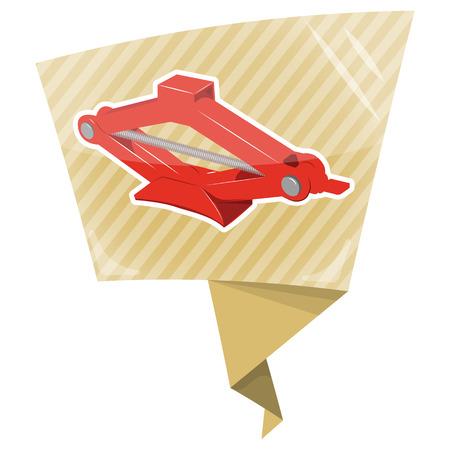 lug: Car jack icon. Car jack service equipment