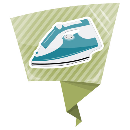 dry cleaner: Clothing iron colorful icon. Vector illustration eps10 graphic Illustration