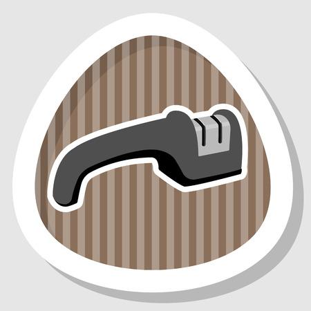 sharpening: Single knife sharpener icon. Vector colorful illustration Illustration