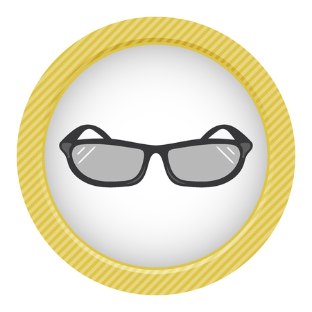 eyewear fashion: Sunglasses colorful icon an a white background Illustration
