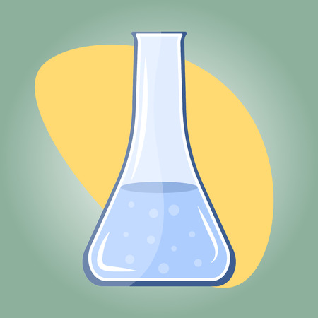 inovation: Flask colorful vector icon. Web Graphic Flask Icon