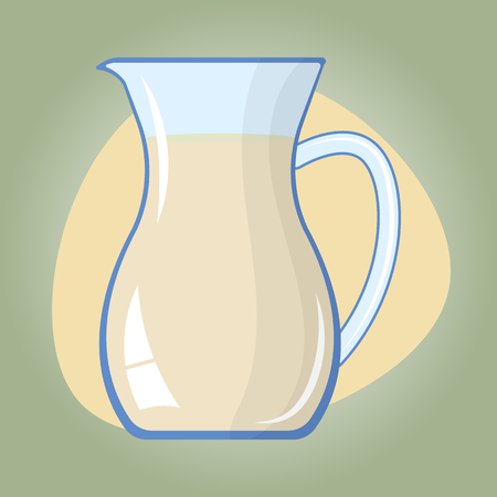 milkman: Milk colorful vector icon. Healthy milk for breakfast Illustration