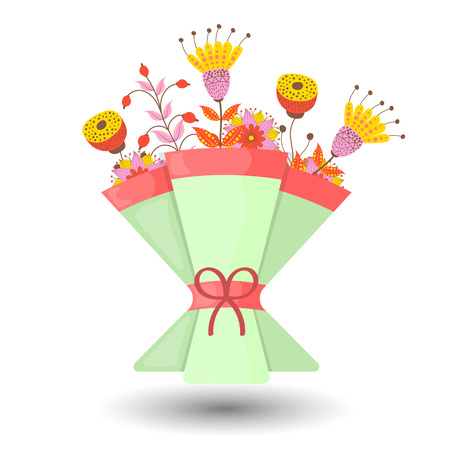 wedding bouquet: Wedding bouquet vector illustration. Wedding bouquet flowers